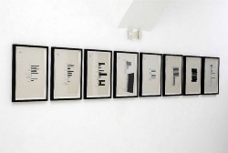 TK (pause scores), 2014, 8 elements, prints on paper, cm 48 x 33 (each)