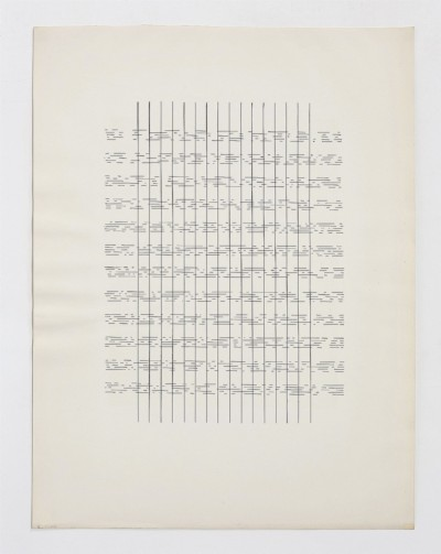 Partitura asemantica, Attraverso ed oltre, 1974, indian ink on paper, cm 72 x 57 (frame), cm 66 x 50 (unframed), photo: Danilo Donzelli
